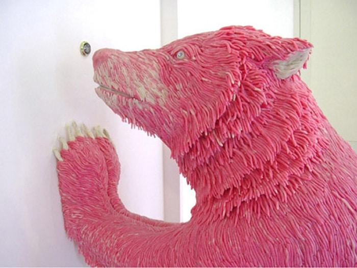 maurizio savini chewing gum art mediums