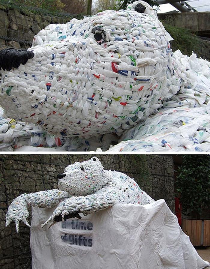 eden project trash bag art mediums