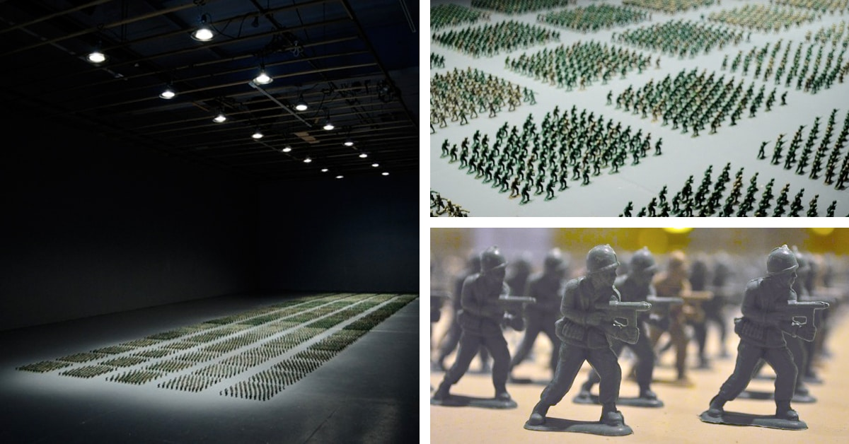 Meticulous Installation Of 10 000 Toy Soldiers In Perfect