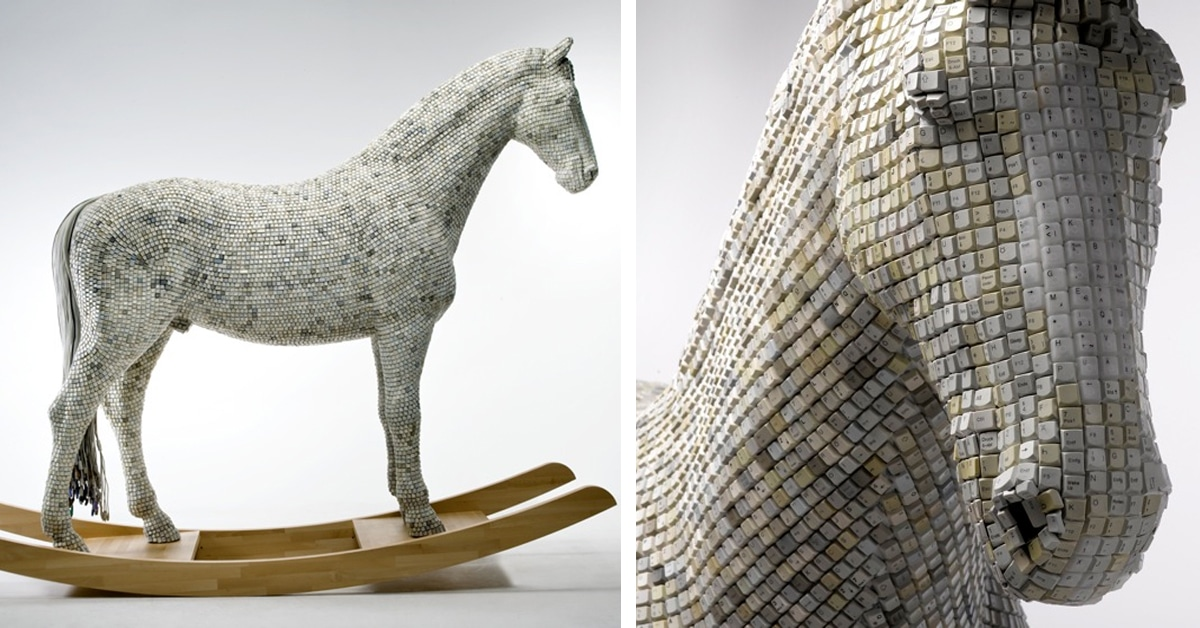 Modern Day Trojan Horse Formed With Computer Keys Babis Pangiotidis
