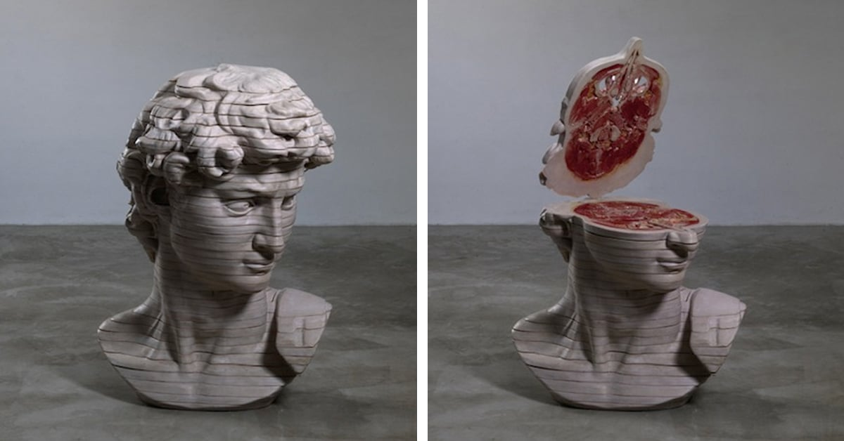 Cao Hui Creates Dissected Classic Sculptures to Reveal Internal Anatomy