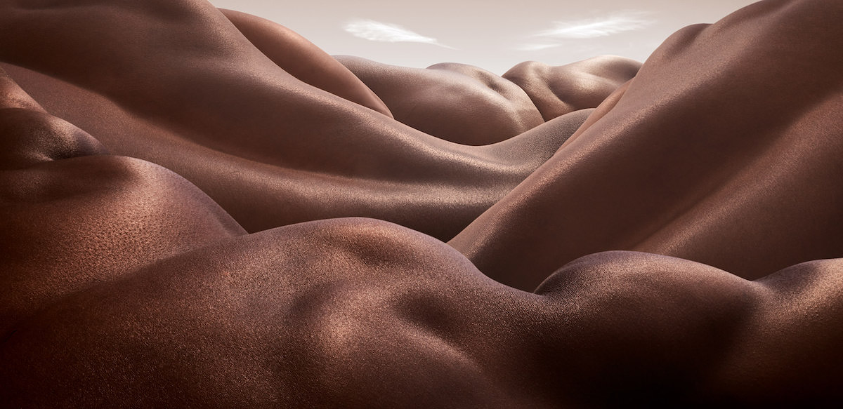 Abstract Landscapes Formed from Human Bodies