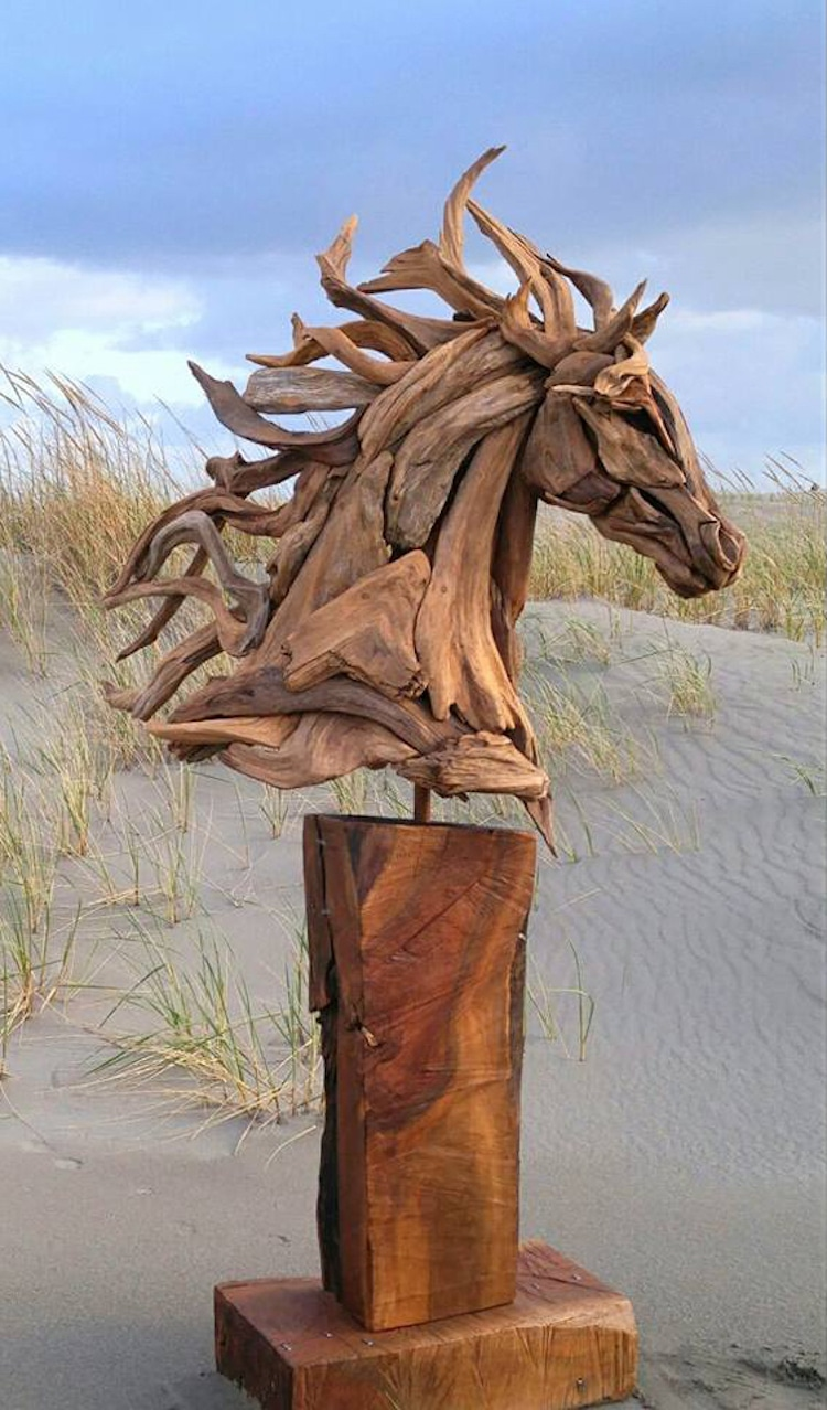 Driftwood Horse Head Sculpture
