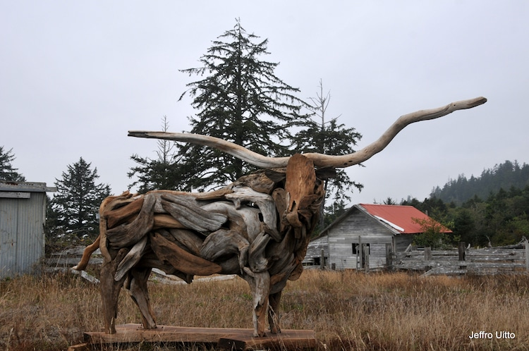 Driftwood Sculpture by Jeffro Uitto