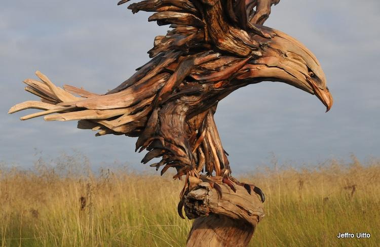 Jeffro Uitto Driftwood Sculpture