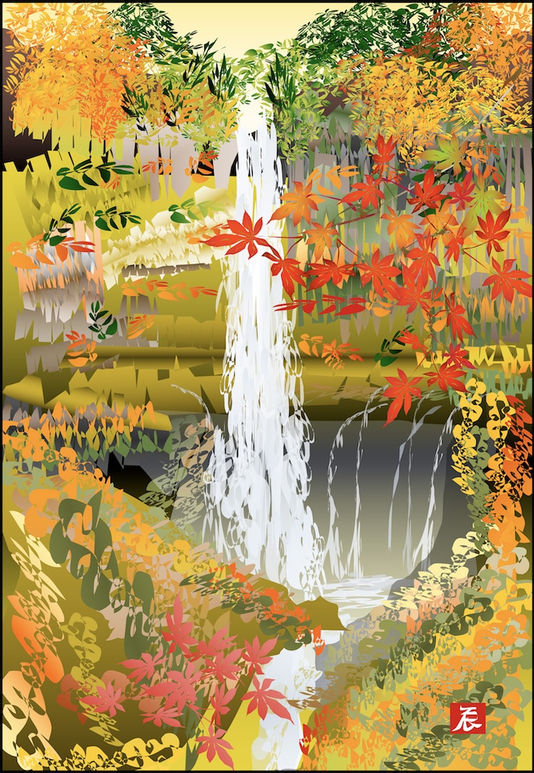 77 Year Old Man Paints Japanese Landscapes On Excel Spreadsheets