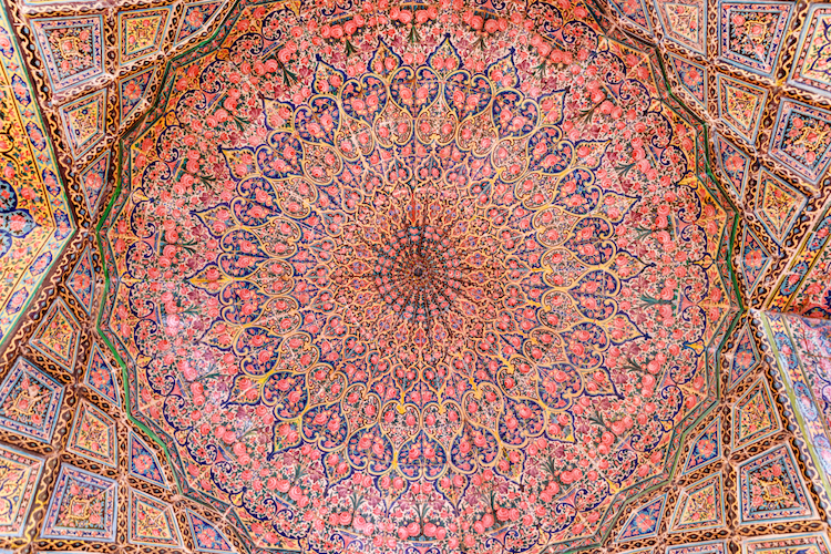 Cupola of Nasir al-Mulk Mosque in Shiraz