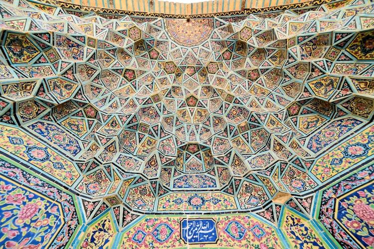 mezquita rosa de iran