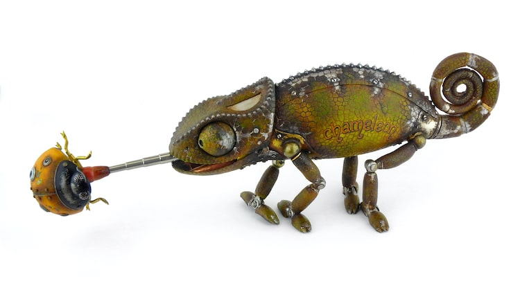Scrap Metal Animal Sculptures by Igor Verniy
