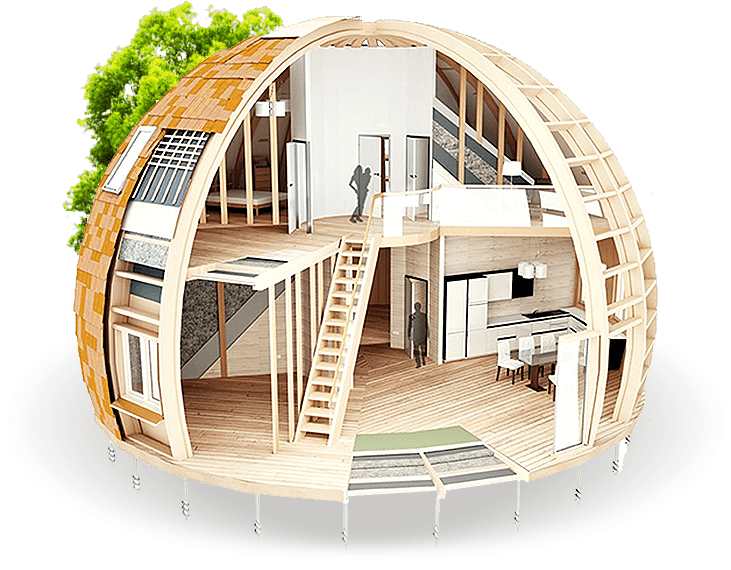 Round homes built to withstand 1 500 pounds of snow for Round home plans