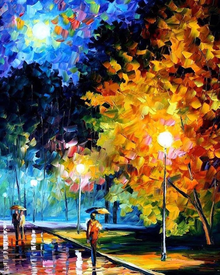 Leonid Afremov Paintings Impressionism