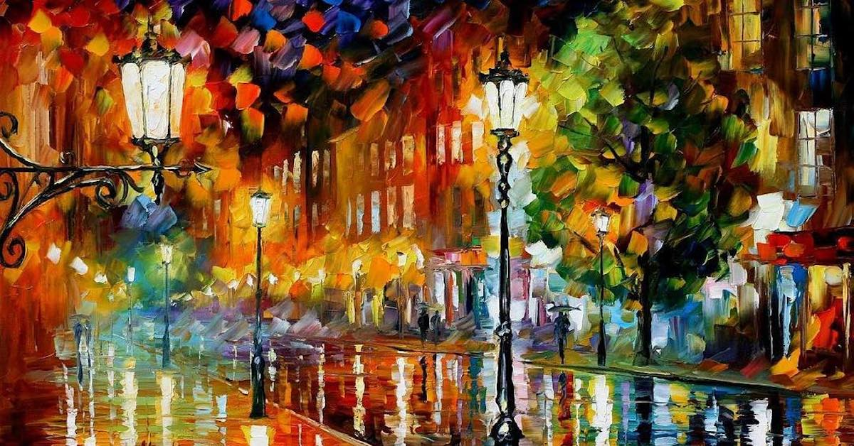 Leonid Afremov Paintings Reflect Romantic Memories