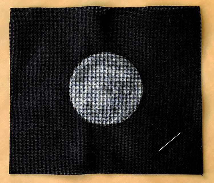 Planetary Cross-Stitch of Mercury by Navid Baraty