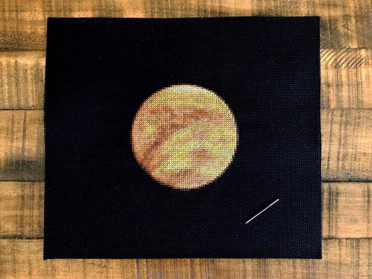 Planetary Cross-Stitch of Venus by Navid Baraty