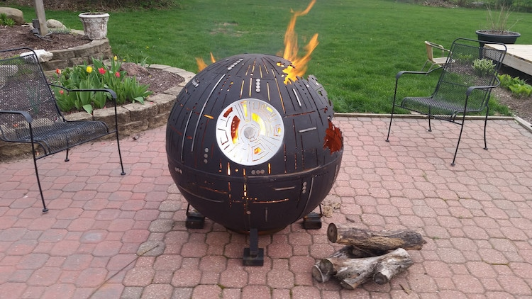 Death Star Fire Pit Outdoor Fire Pit Star Wars Fire Pit