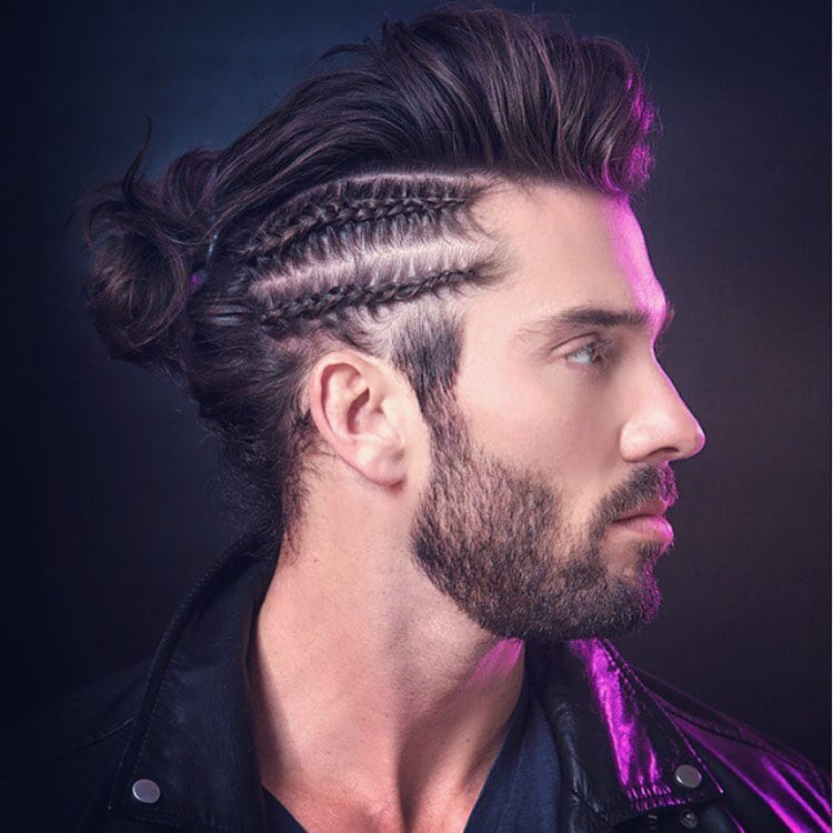 Man Braid Man Bun Braids for Men