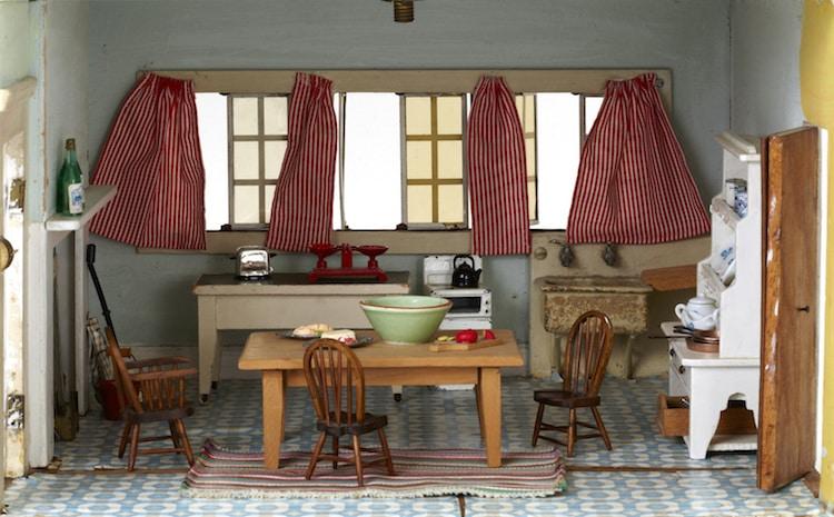 Tiny Kitchen Within Dollhouse