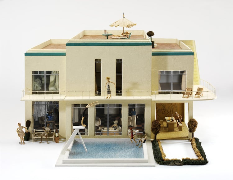 Miniature Mansion From Dollhouse Exhibit