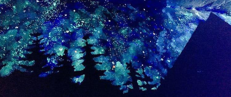 Glow In The Dark Nebula Ceiling Mural Wall Murals You Ll Love ...