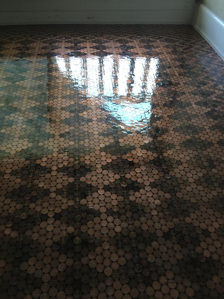 penny floor DIY decor tonya tooners design