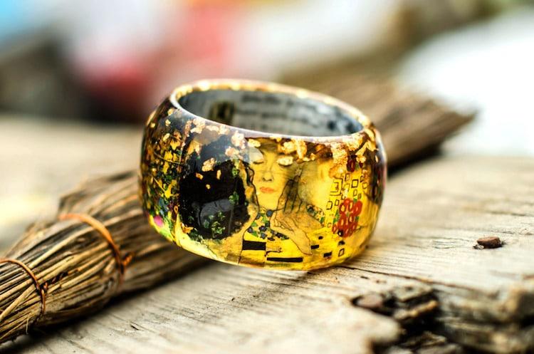 1-paganeuniques-fine-art-resin-bracelet-klimt