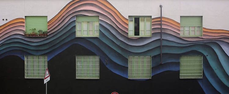 1010 street art mural optical illusion