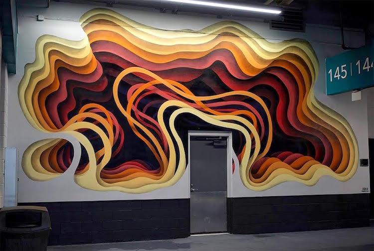 1010 street art mural optical illusion