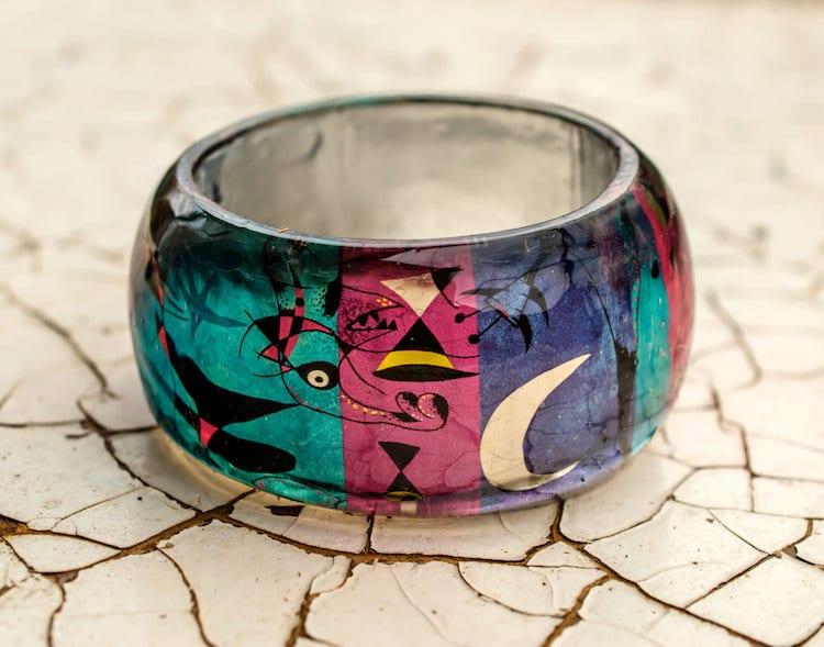 11-paganeuniques-fine-art-resin-bracelet-miro