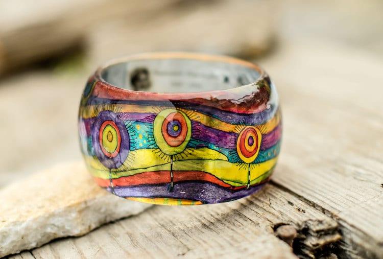 13-paganeuniques-fine-art-resin-bracelet-hundertwasser