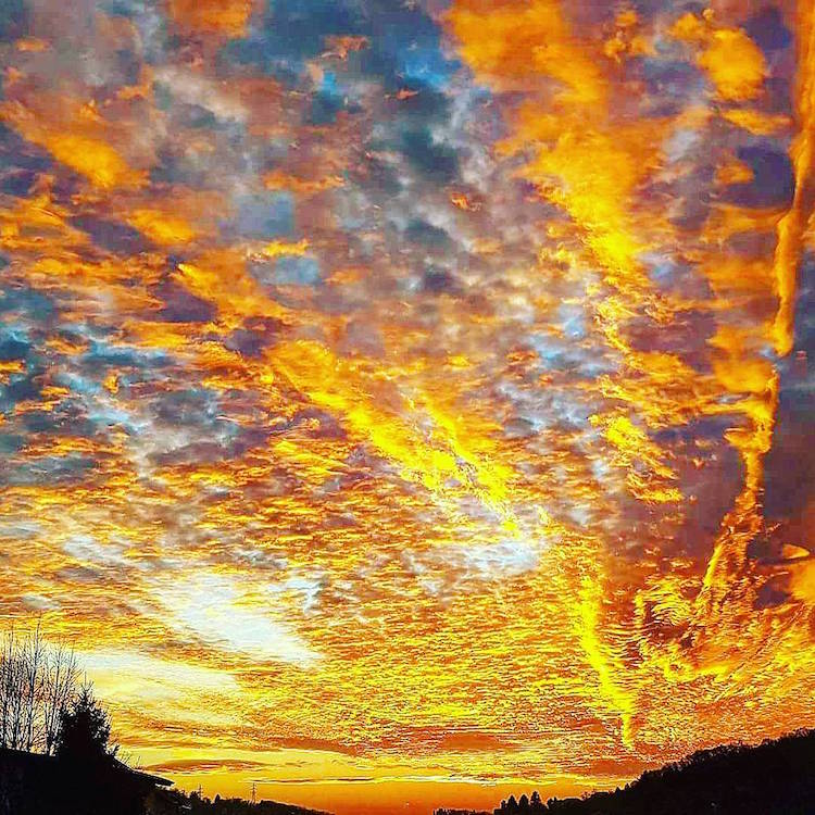 december sunset zagreb croatia