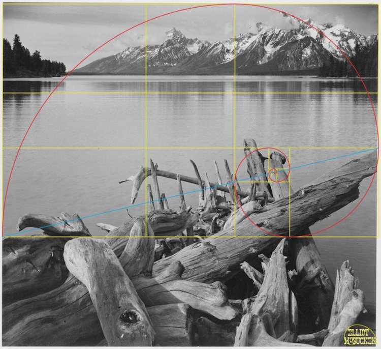 golden ratio golden spiral ansel adams elliot mcgucken