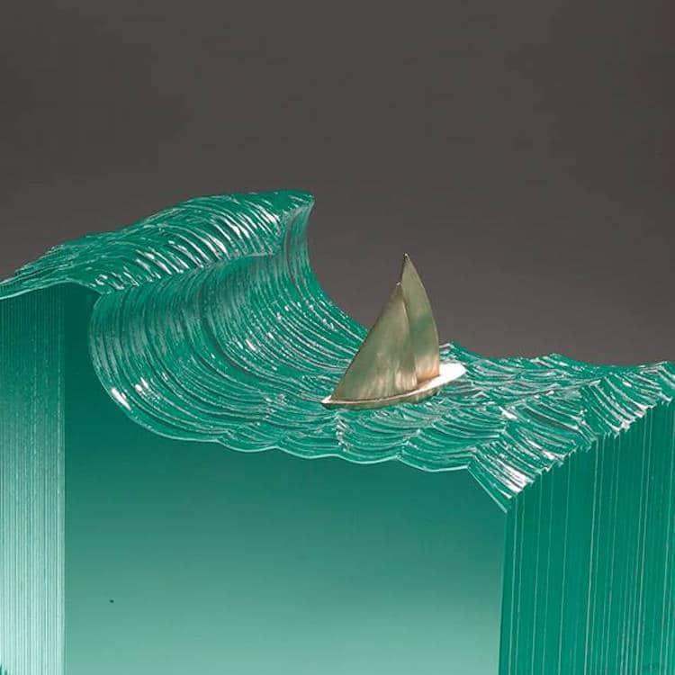 Translucent Glass Ocean Sculptures By Ben Young
