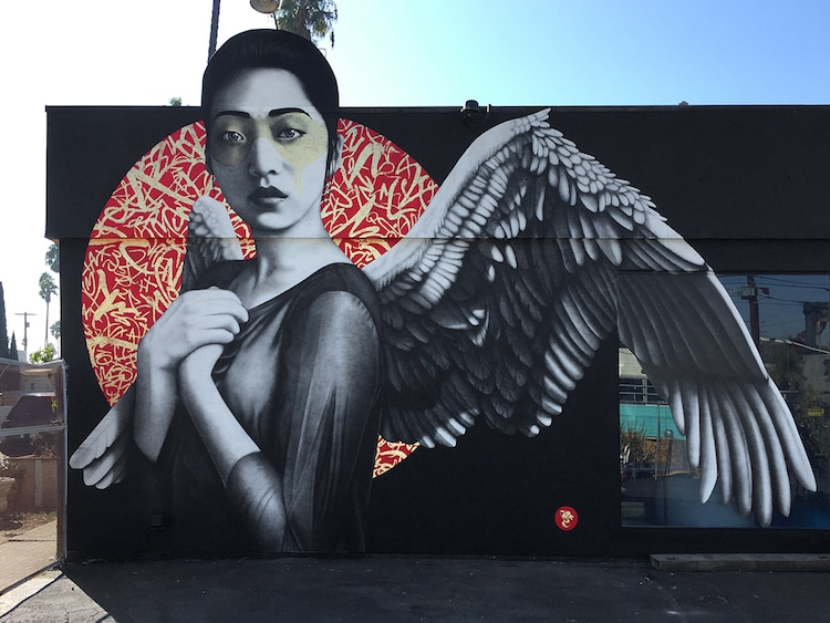 Fin DAC street art los angeles