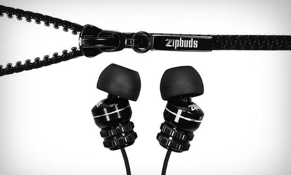6. Zipbuds - Tangle-Resistant Earbuds If you're one of the frustrated people who hates untangling their earphone cords, check out Zipbuds. These use a clever integrated zipper wire system that's made from durable, Kevlar reinforced cabling. What does that mean? No more untangling your cords for 10 minutes before hitting the gym. Genius in its simplicity. $39.99 at DGA Store.