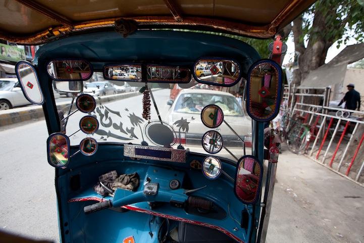 Riding Rickshaws.