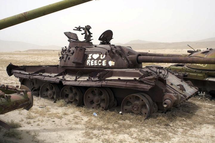Soviet Tank Graveyard.