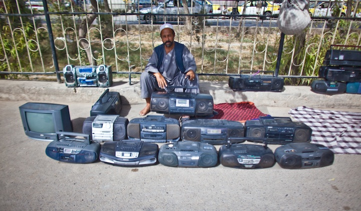 Vendor of Boomboxes.