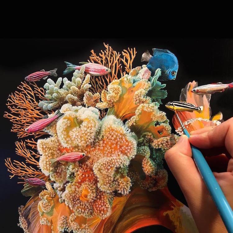 lisa ericson fish art hybrid animal painting