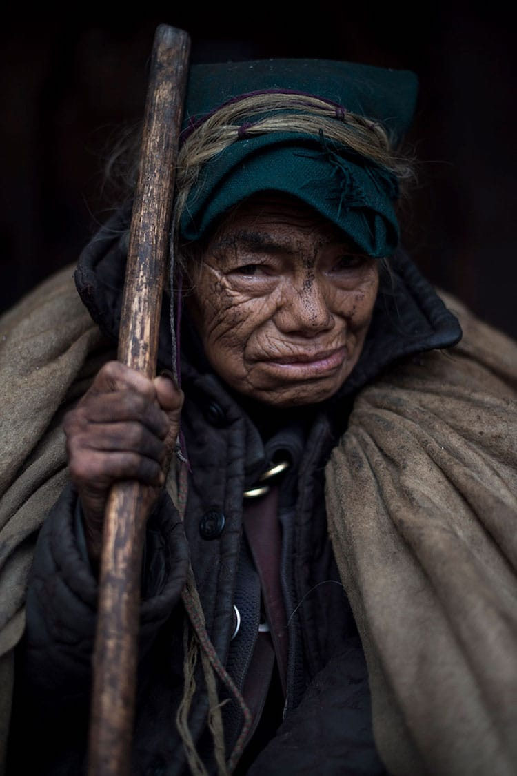 Yi (or Lolo) woman, an ethnic group in China, Vietnam, and Thailand.