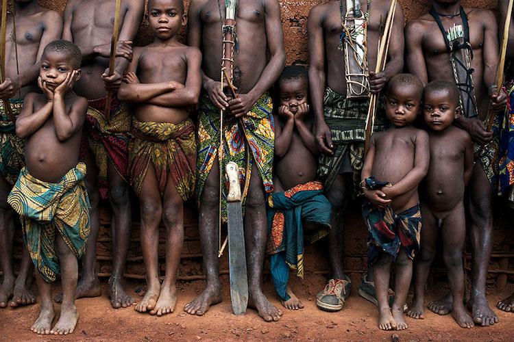 Bambuti pygmy group of the Democratic Republic of the Congo.