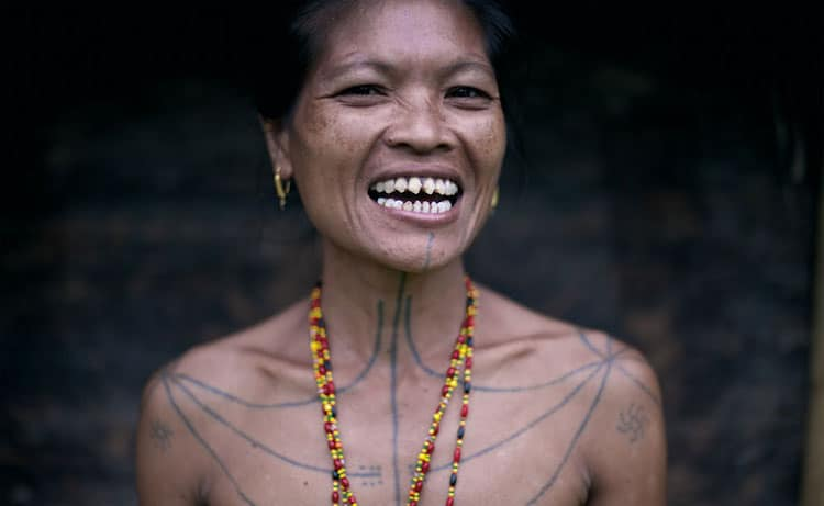Mentawai woman of the Siberut islands.