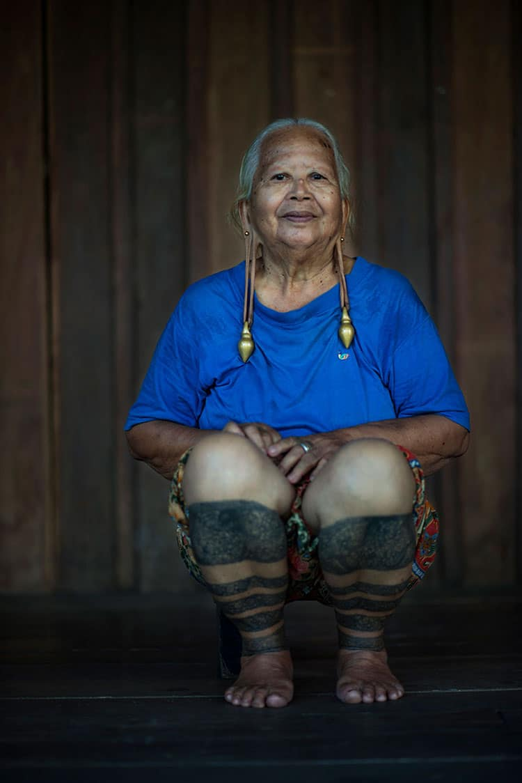 Kenyah woman from Borneo.