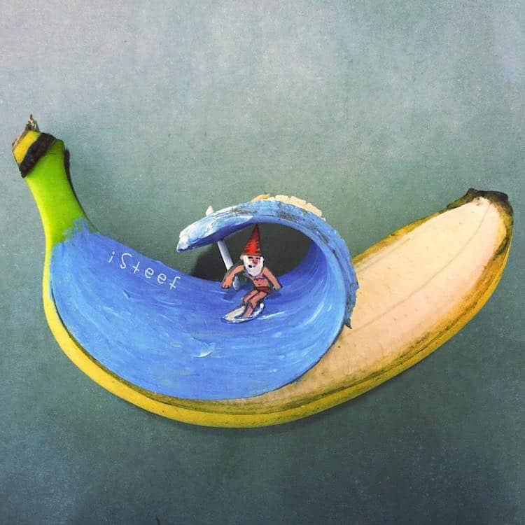 stephan brusche isteef banana food art