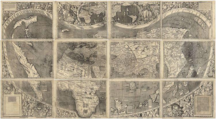 waldseemuller map universalis cosmographia