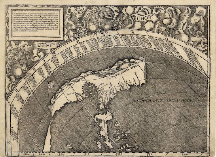 america waldseemuller map universalis cosmographia