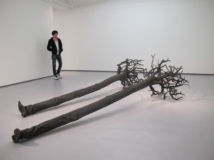 yoan capote uprooted walking tree sculpture