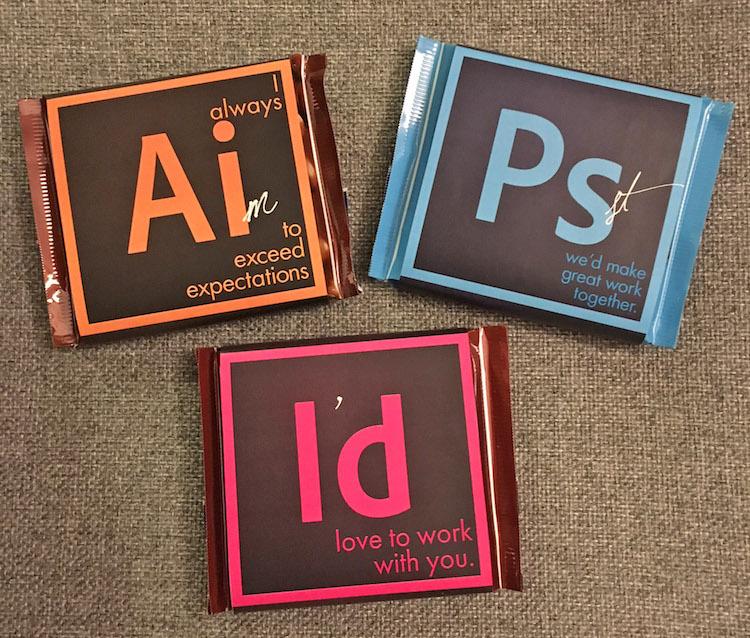 April Hansen Adobe Suite chocolate bars