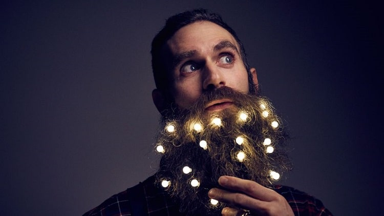Beard Lights  Men Are Decorating Their Beards Like a Christmas Tree