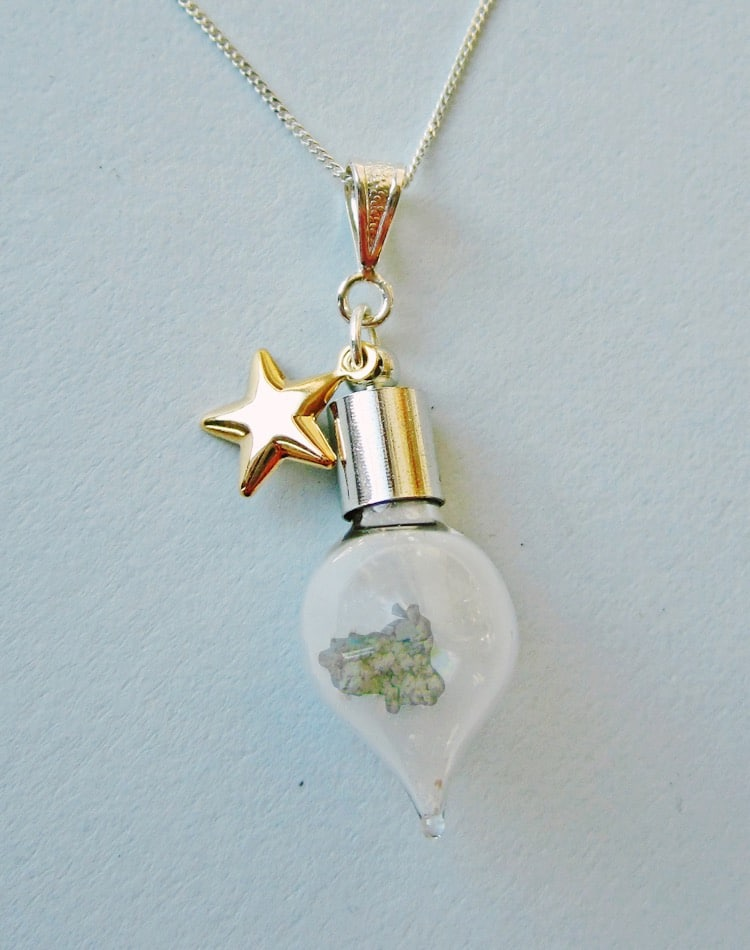 eclectic eccentricity moon dust necklace
