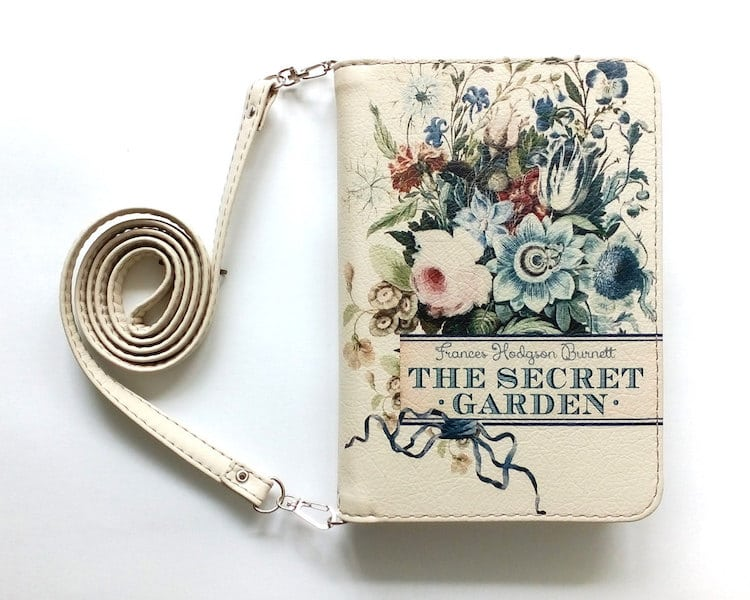 "BAGatelle Studio: ""The Secret Garden"" book clutch"